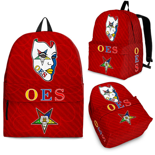 OES  Mask - Red Hearts Backpack - JaZazzy