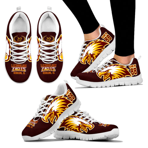 Lindblom Eagles, Chicago c/o 88-30th yr Limited Edition Sneaker -Women - JaZazzy