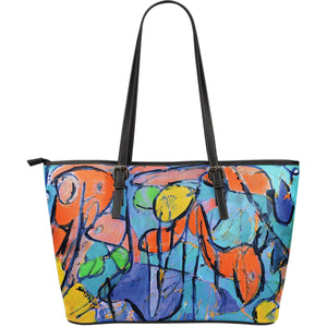 Colorful Leather Tote Bag - JaZazzy