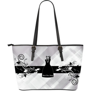 Black Dress Society-Lg Leather Print Tote-Assorted Colors-white - JaZazzy