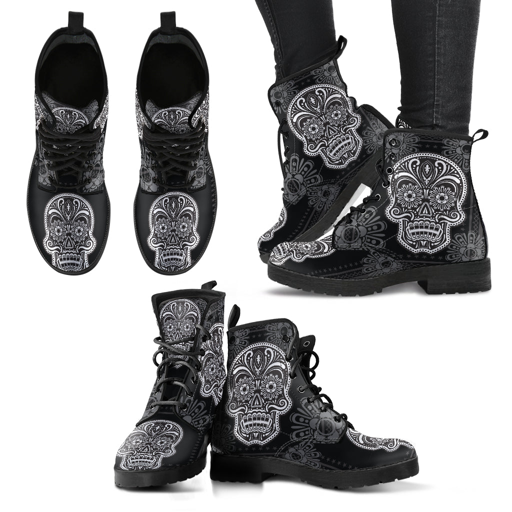 SugarSkull 4 Handcrafted Boots - JaZazzy