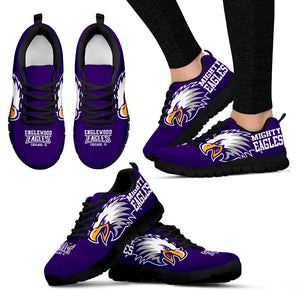 Englewood H.S. Chgo. Sneaker- Purple Eagle-Blk-Women - JaZazzy