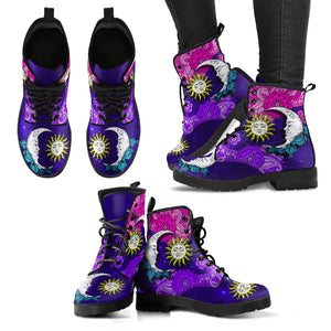 Sun And Moon Henna Handcrafted Boots V2 - JaZazzy
