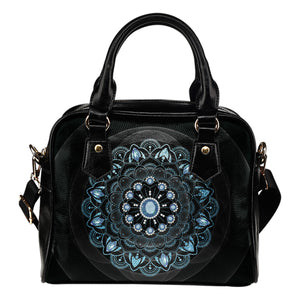 Winter Leaves Mandala Shoulder Handbag - JaZazzy