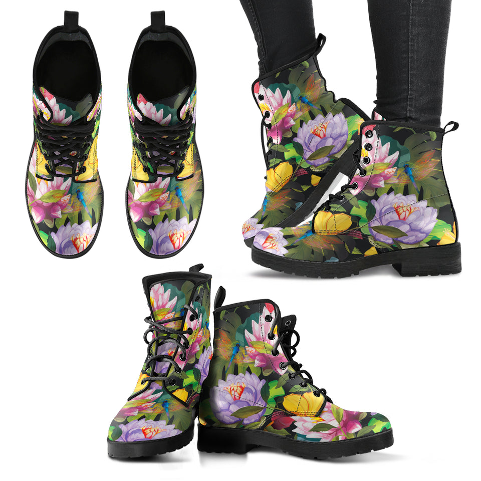 Dragonfly Lotus 1 Handcrafted Boots - JaZazzy