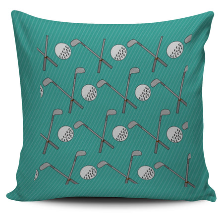 Golf Design Pillow Case - Teal - JaZazzy