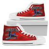 DuSable High Top Gym Shoe-Red SQ-Mens (JZP) - JaZazzy