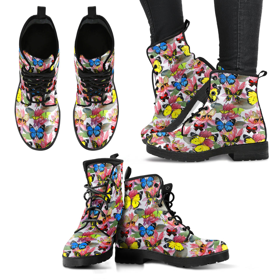 HandCrafted Multicolor Lotus Butterfly Boots - JaZazzy