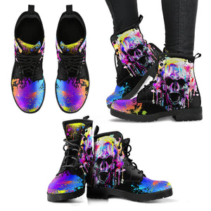 Colorful Skull Handcrafted Boots - JaZazzy
