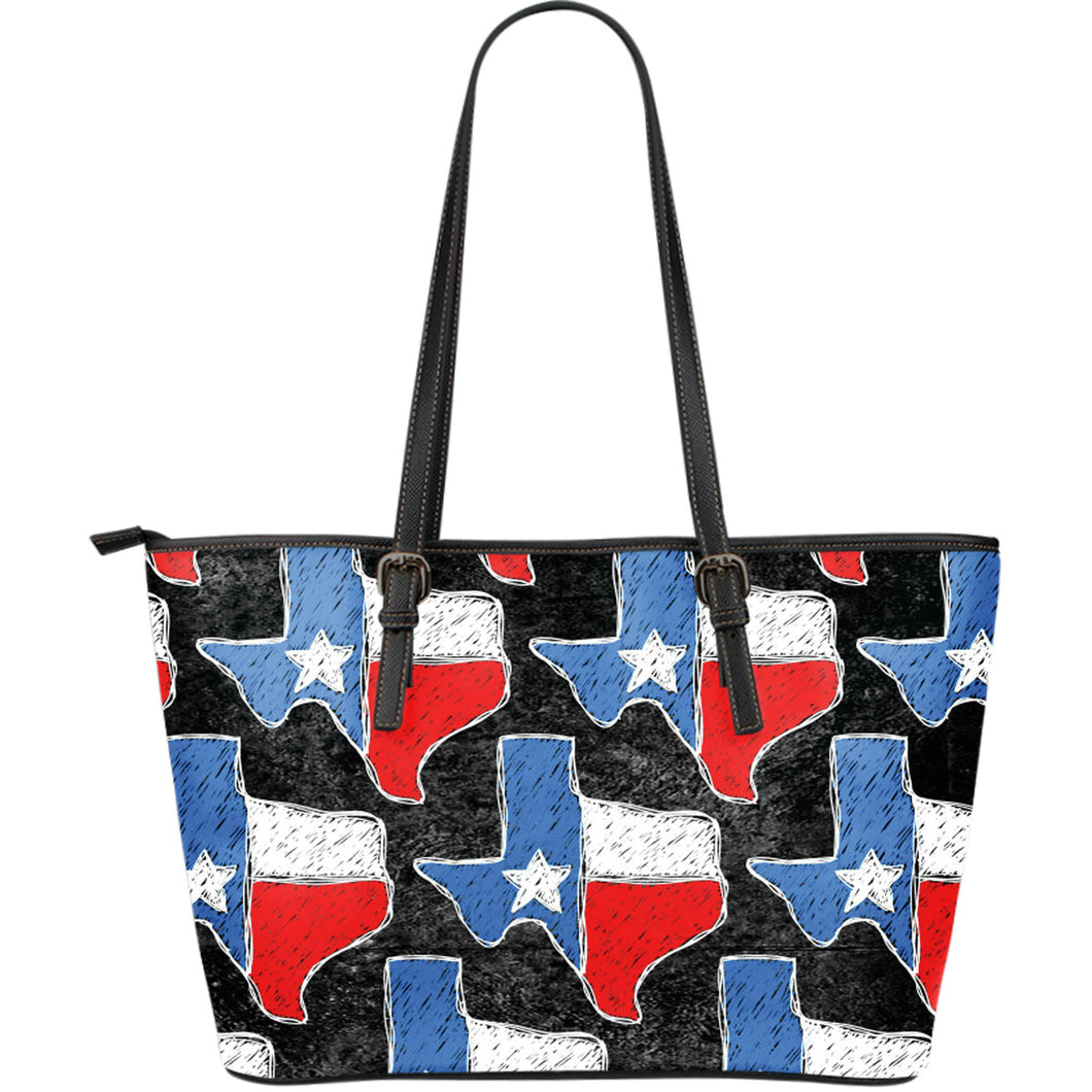Texas Large Leather Tote Bag - JaZazzy