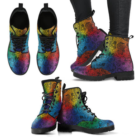 Colorful Paisley Handcrafted Boots