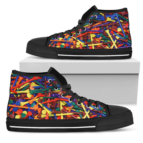 Men's High Top Sneakers - Golf Tee's - JaZazzy