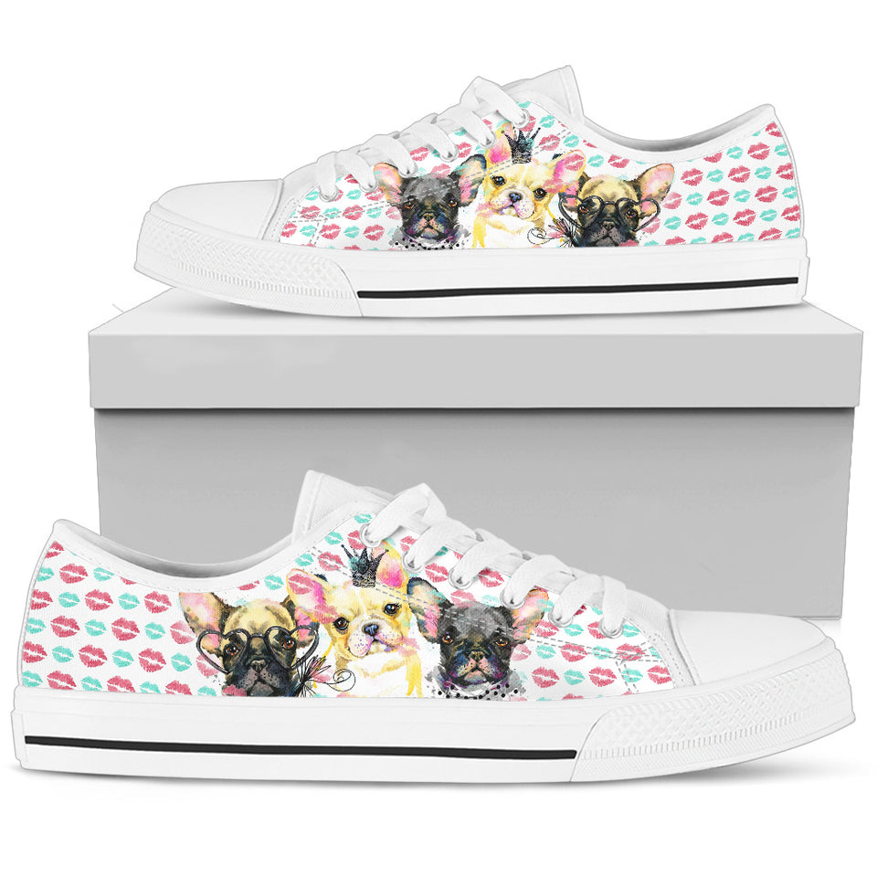 French Bulldog Men's Low Top Shoe - JaZazzy