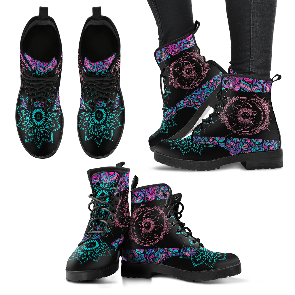Sun & Moon V6 Handcrafted Boots - JaZazzy