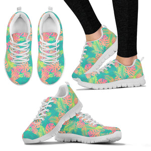 Boho Exotic Leaves Sneakers. - JaZazzy