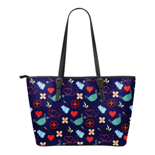 Nursing Small Leather Tote Bag - JaZazzy