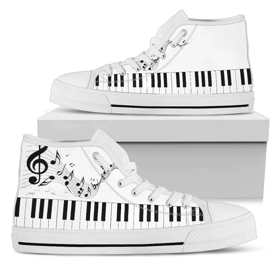 Music Lovers High Top White - JaZazzy