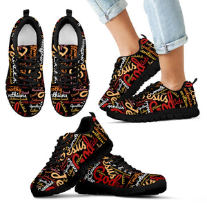 Custom-Made Holy Bible Books Kid's Sneakers Black - JaZazzy