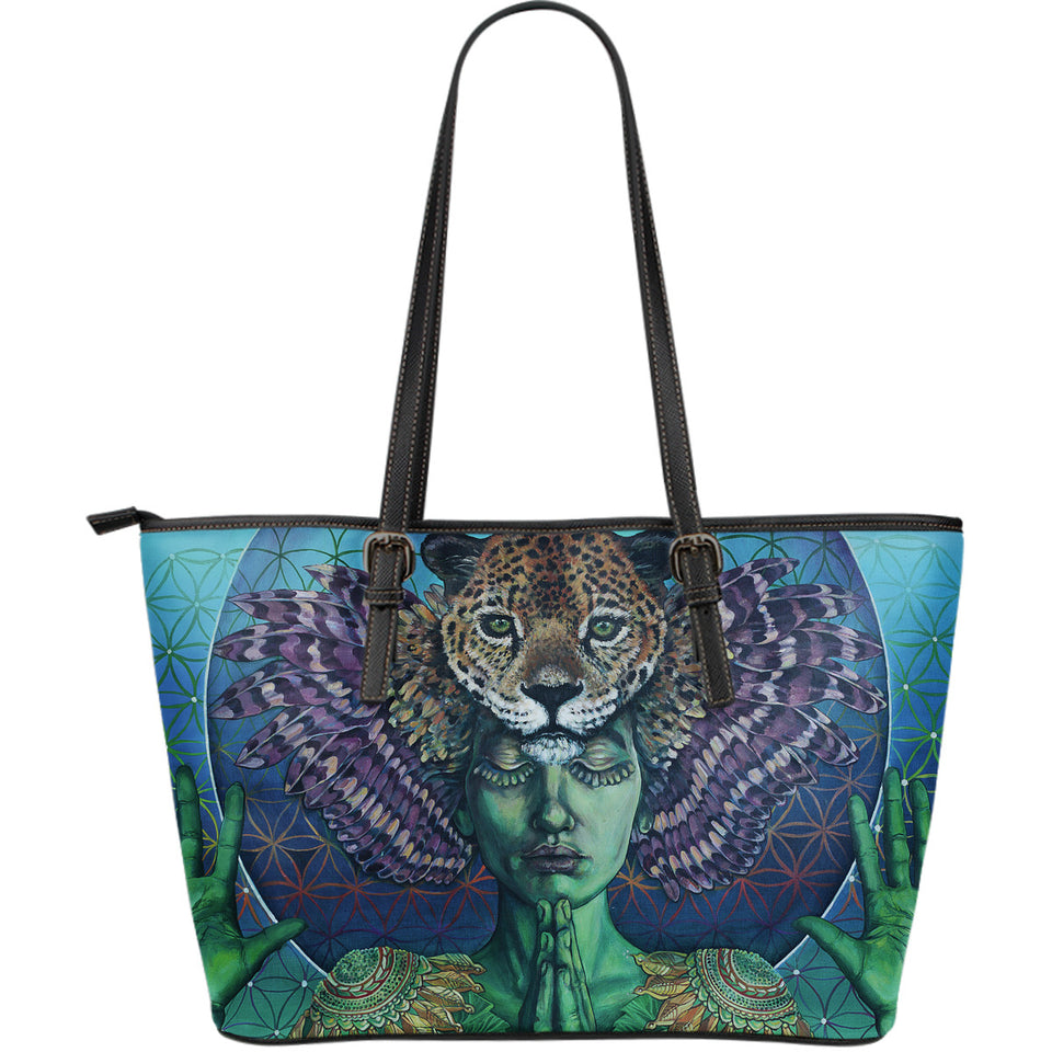 Self Portrait - Large Leather Tote Bag - JaZazzy