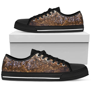 Men's Low Top Shoe - Wet Rock Design - JaZazzy