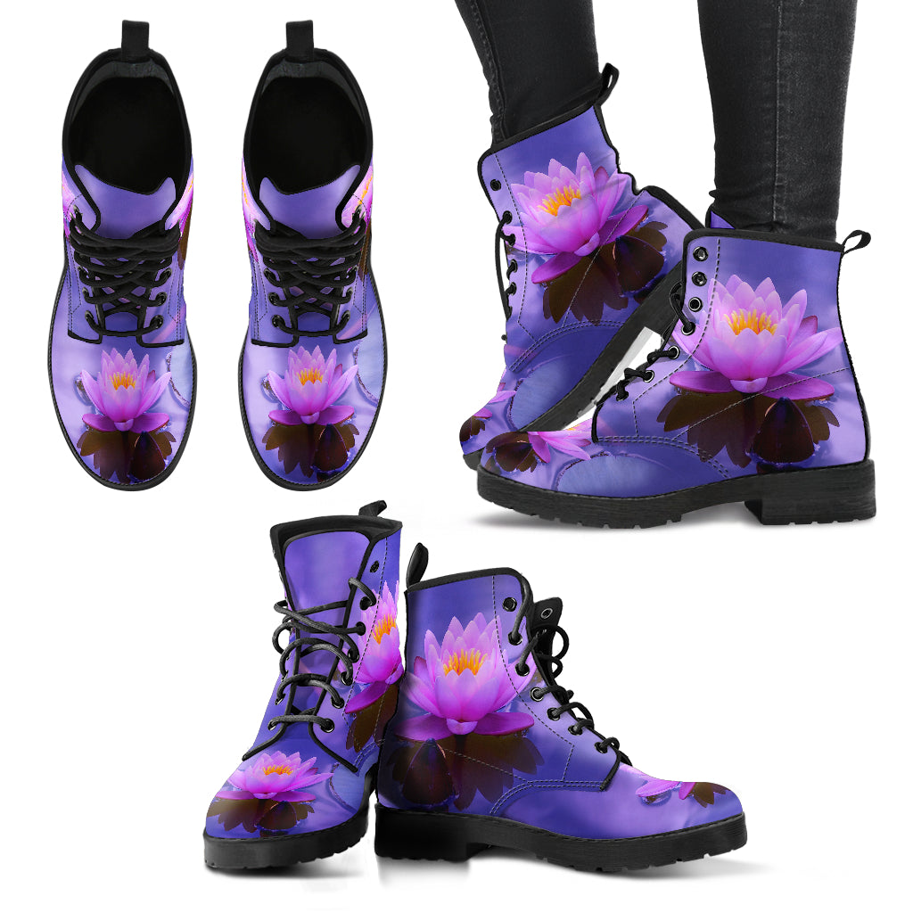 Beautiful Lotus Handcrafted Boots V2 - JaZazzy