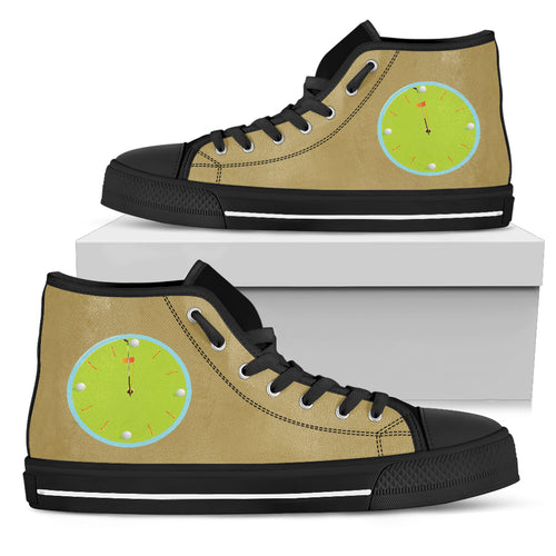 Men's High Tops - Time For Golf - JaZazzy
