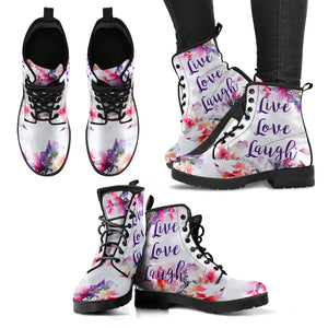 Live Love Laugh Women's Leather Boots - JaZazzy