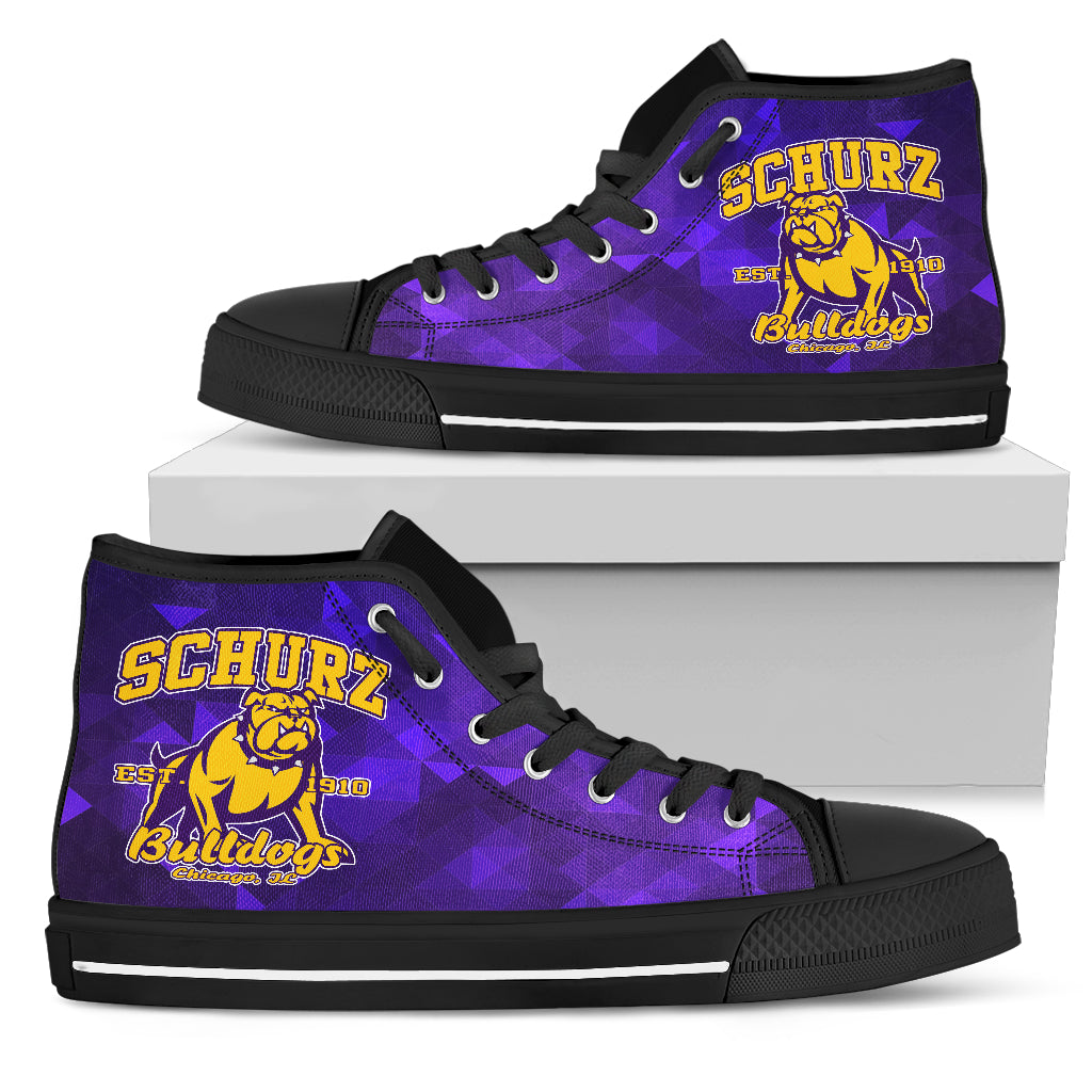 Schurz Bulldog Purple High Top_Mens Sneaker (Gym Shoe)_Blk - JaZazzy
