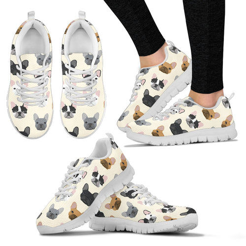 Bulldogs white Women's Sneakers - JaZazzy