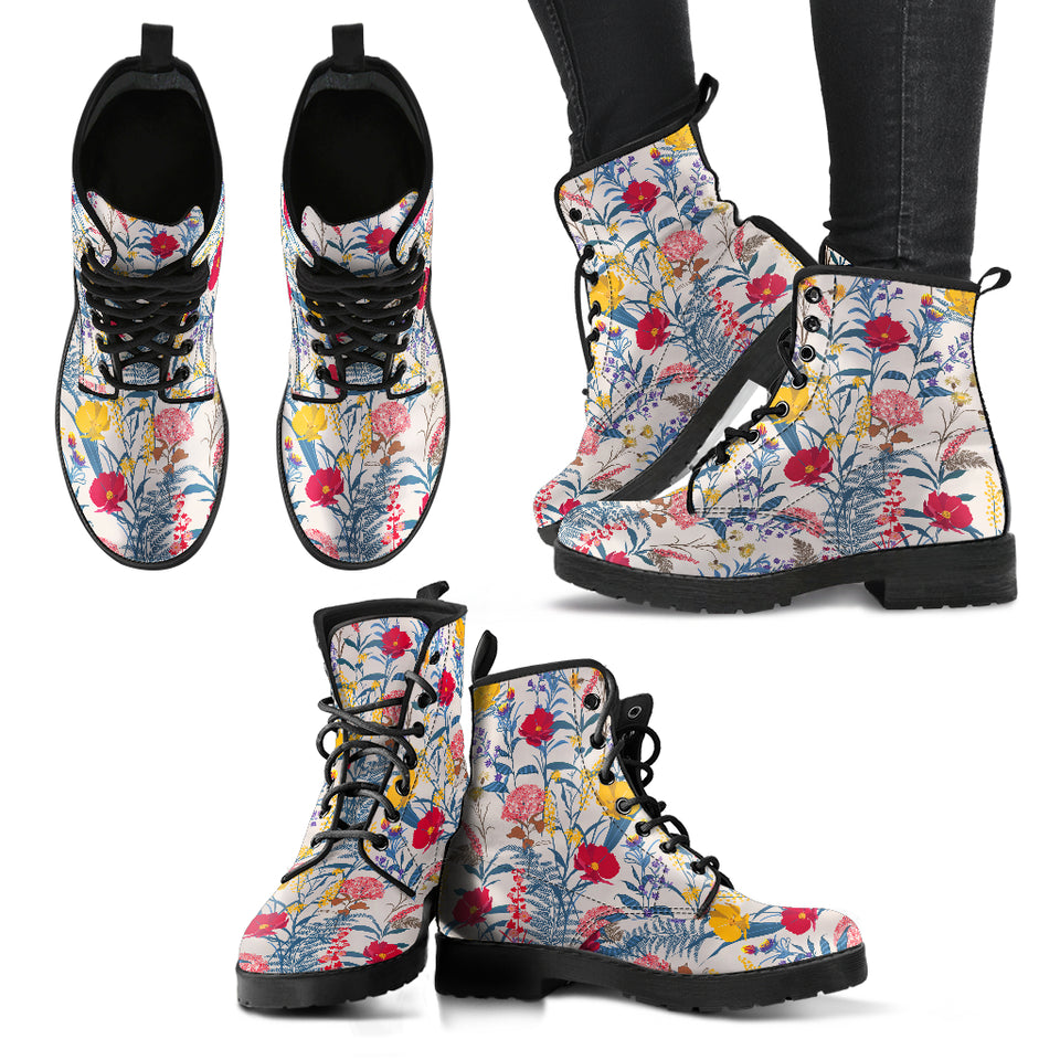 HandCrafted Colorful Flower Boots - JaZazzy