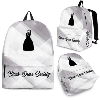 Black Dress Society designed BackPack-Assorted Colors- White - JaZazzy