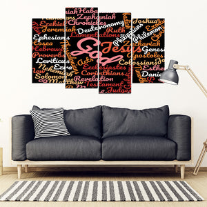 Black Holy Bible Books Wall Art Canvas - JaZazzy