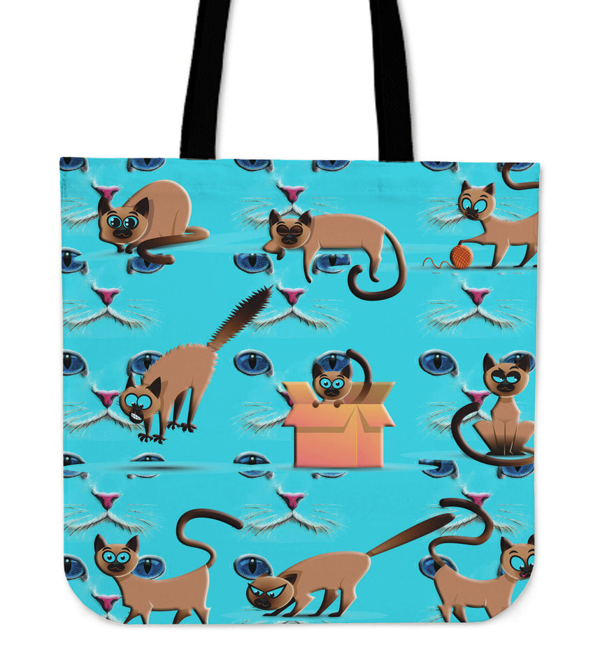 Funny cat eyes Tote Bag - JaZazzy