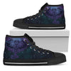 Womens Purple Mandala Elephant High Top - JaZazzy