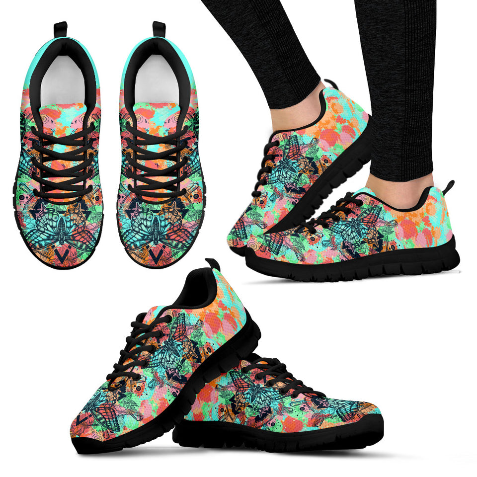 Colorful Flower Butterfly Sneakers - JaZazzy