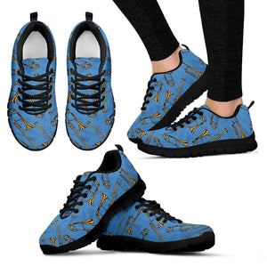 Womens Sneakers. Trombone Design Shoes. - JaZazzy