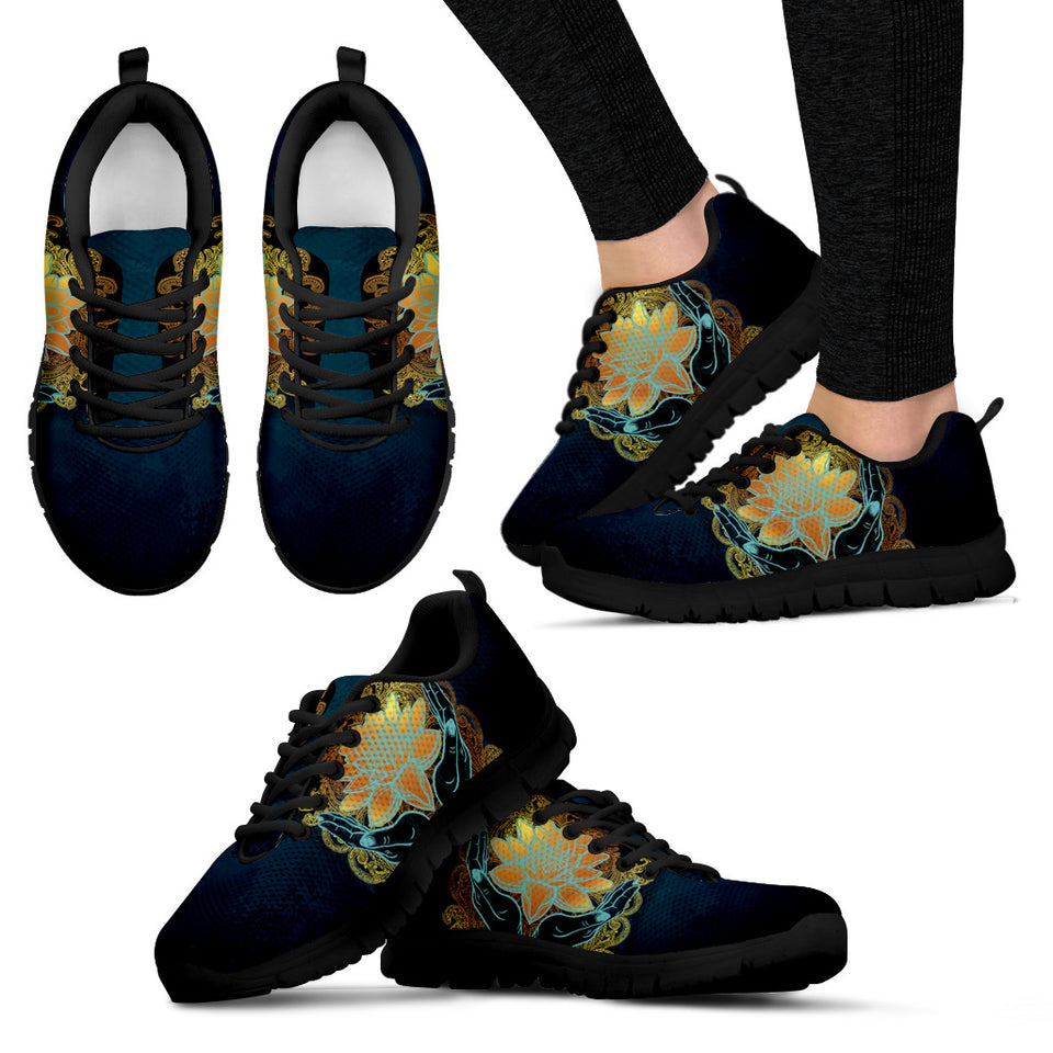 Womens Lotus in Hand Sneakers - JaZazzy
