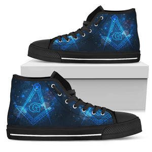 Freemason Classic High Top - Double Blue 047 - JaZazzy