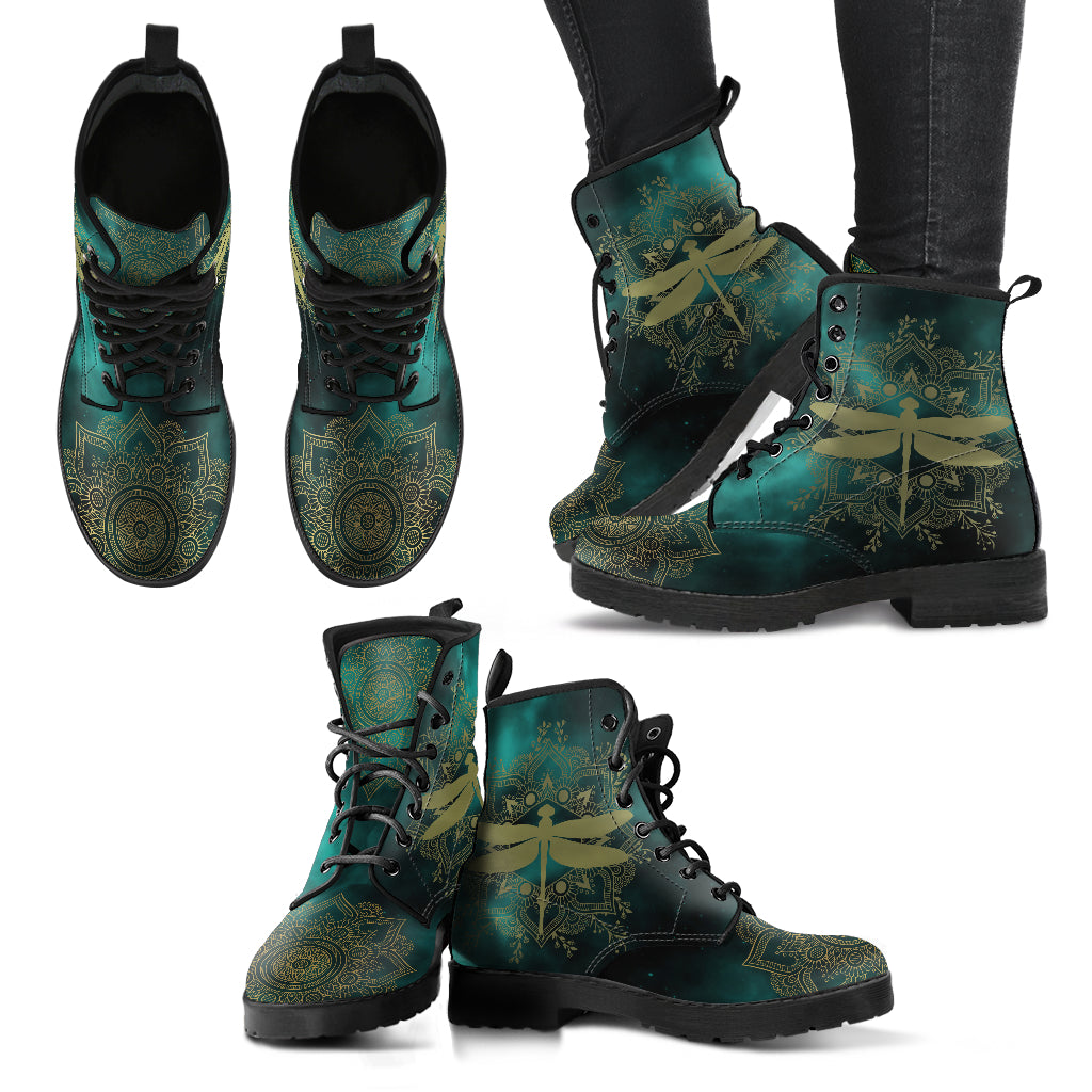 Dragonfly Of Peace Handcrafted Boots V2 - JaZazzy