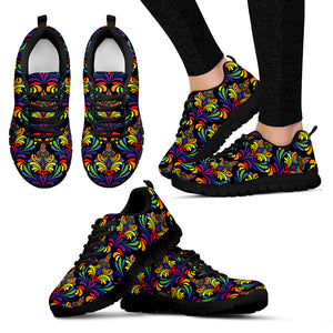 Bohemian Print-Sneaker  056-1_Black or White Sole - JaZazzy