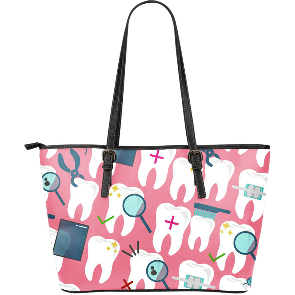 Dental Hygienist Large Leather Tote Bag - JaZazzy