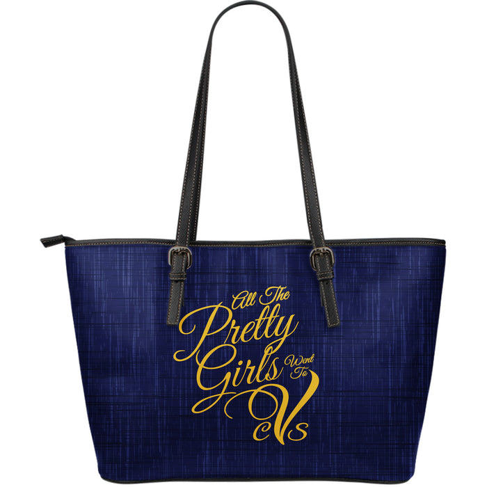All The Pretty Girls CVS-LG Leather Tote-Denim Print - JaZazzy