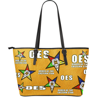 OES Large Leather Print Tote - Assorted Colors