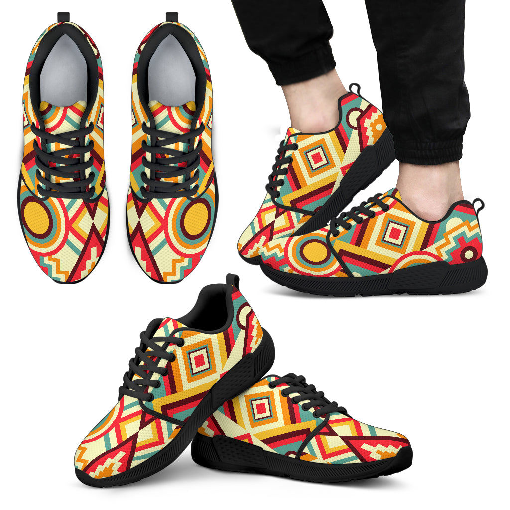 Men's Kaleidoscope Athletic Sneakers Black - JaZazzy