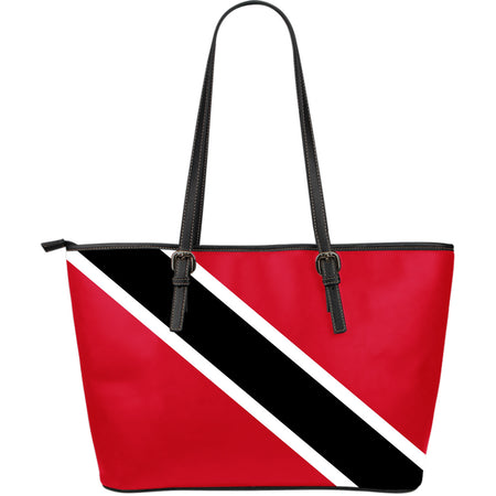Trinidad and Tobago - Large Leather Tote Bag - JaZazzy