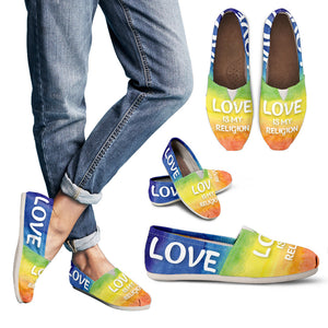 Love Is My Religion Women's Casual Shoes - JaZazzy