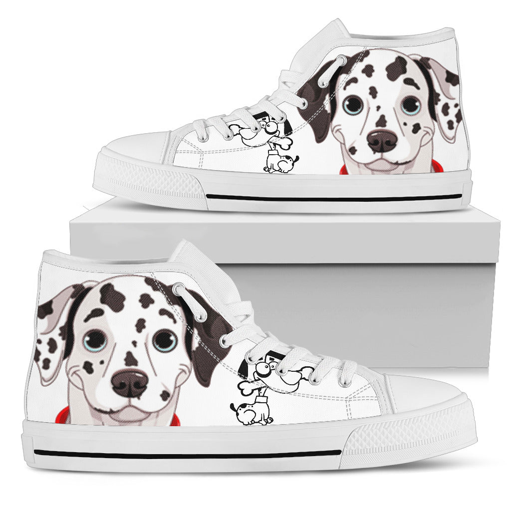 Dog Hightop White Men's High Top - JaZazzy