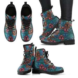 Sugar Skull 3 Handcrafted Boots - JaZazzy