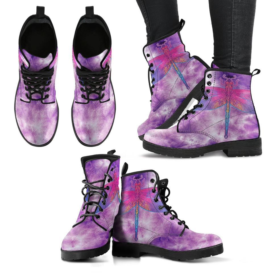 TieDye Dragonfly 3 Handcrafted Boots - JaZazzy