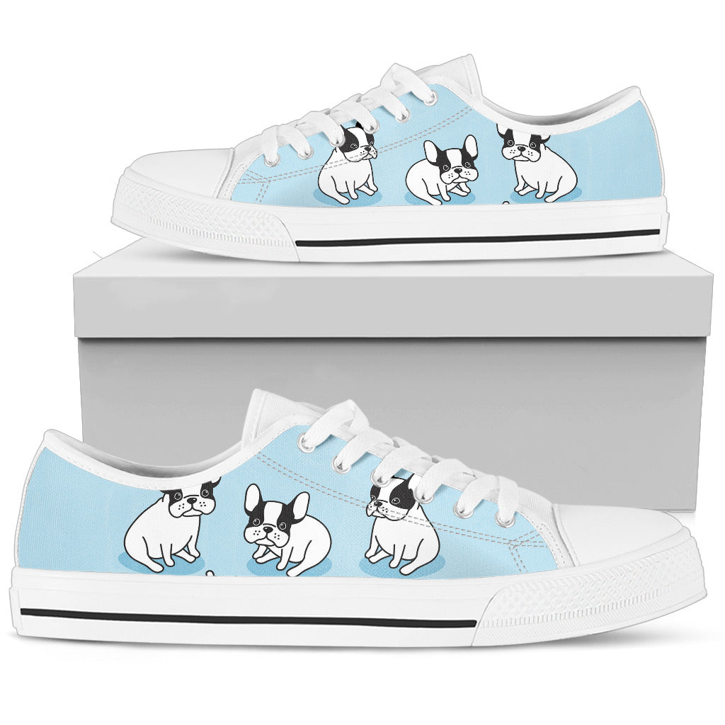 Baby Bulldog Women's Low Top Shoe-lt blue - JaZazzy